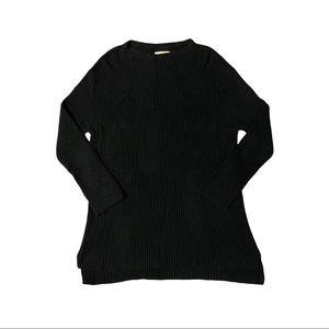 OAK + FORT Tunic Sweater Black Women's Size L